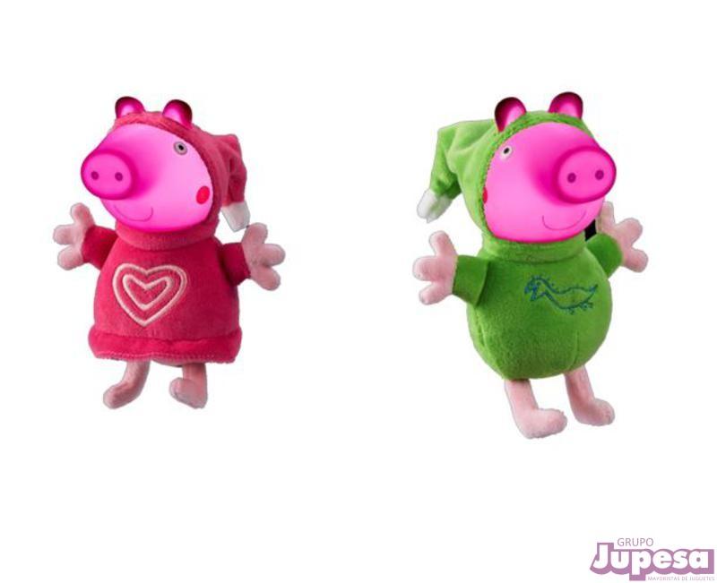 PELUCHE PEPPA PIG GLOW FRIENDS LUZ