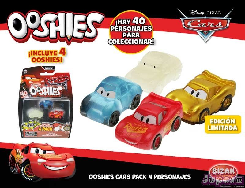 PACK 4 PERSONAJES CARS 3 OOSHIES S1