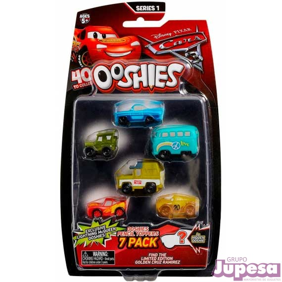 PACK 7 PERSONAJES CARS 3 OOSHIES