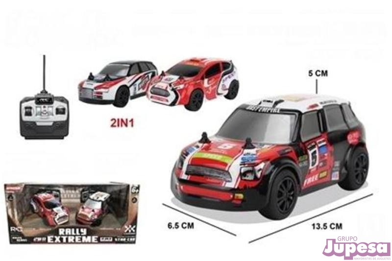 SET 2 COCHES RALLY EXTREME R/C 1:28