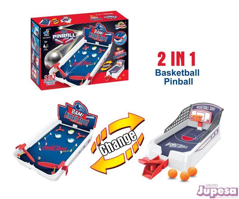 JUEGO 2 EN 1 BASKETBALL & PINBALL