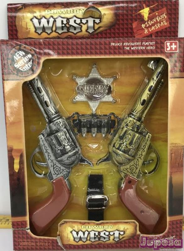 SET 2 PISTOLAS SHERIFF C/ACCESORIOS