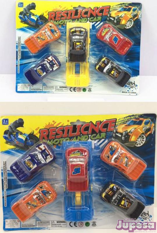 PACK 5 VEHICULOS C/LANZADOR BLISTER