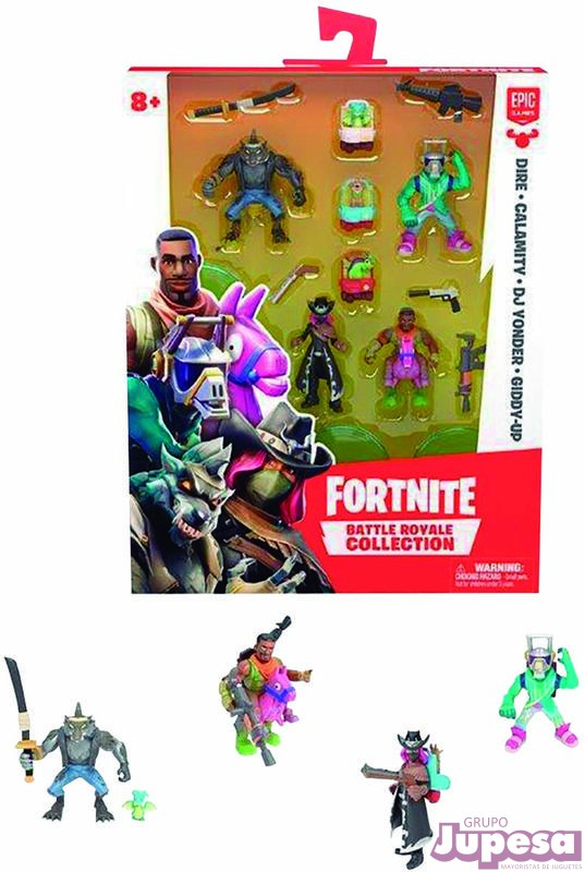 SET 4 FIGURAS FORTNITE BATTLE ROYAL