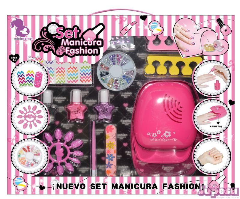 SET MANICURA FASHION C/SECADOR