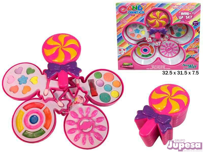 SET MAQUILLAJE 4 PISOS CANDY