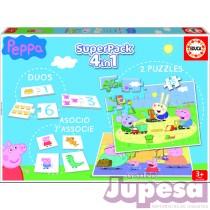 SUPERPACK 4 EN 1 PEPPA PIG