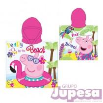 PONCHO TOALLA PEPPA PIG