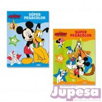 LIBRO SUPER PEGACOLOR MICKEY&AMIGOS
