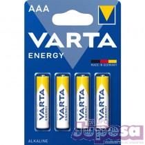 BLISTER 4 PILAS ALCALINAS AAA ENERG